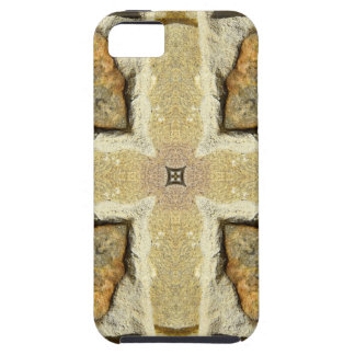 Motif de kaléidoscope de mur en pierre iPhone SE/5/5s case