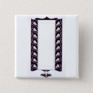 Motif design, probably from 'Le Morte d'Arthur', c Button