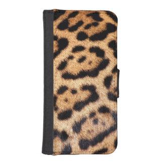 Motif Jaguar animalier en fausse fourrure Phone Wallet Cases