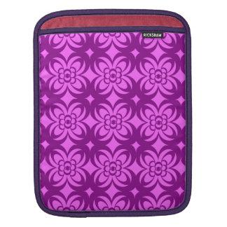 motif pattern  géométrique  fuschia sleeve for iPads