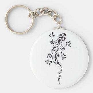 Motif-tatouage-lezard-polyn-sien Keychain