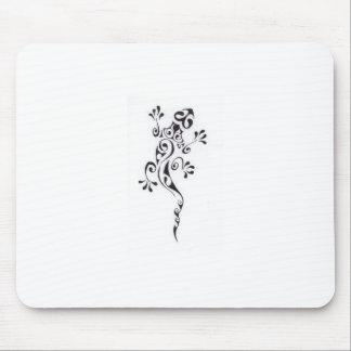 Motif-tatouage-lezard-polyn-sien Mouse Pad