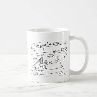 Motín del bastón taza de café
