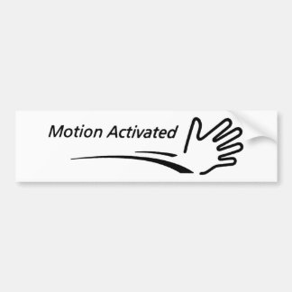 Motion Activated Bumper Sticker