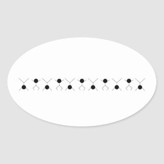 motion and graphics oval sticker