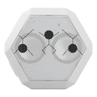 motion and graphics white bluetooth speaker