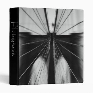 "Motion Blur Brooklyn Bridge 1"" Photo Album Binder"