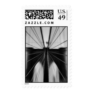 Motion Blur Brooklyn Bridge Postage Stamp