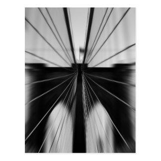 Motion Blur Brooklyn Bridge Postcard
