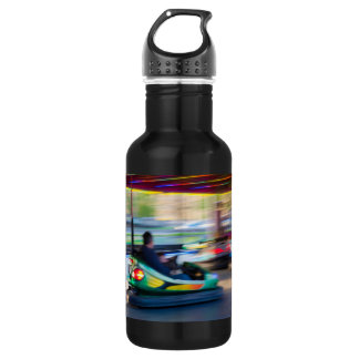 Motion Blur Bumper Cars Water Bottle