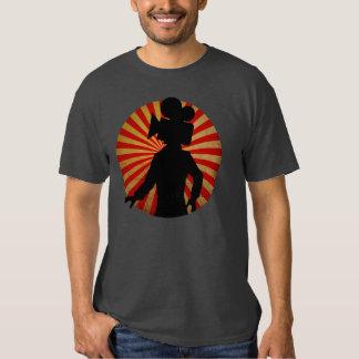 Motion Camera head man, film geek tee shirt
