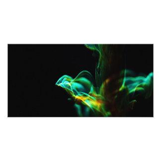 Motion/Fluorescein in water Photo Card