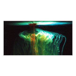 Motion/Fluorescence color in Water Photo Cards