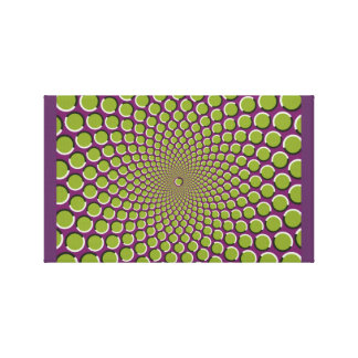 Motion illusion in star arrangement canvas print