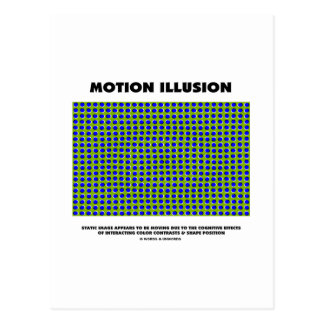 Motion Illusion (Optical Illusion) Post Card