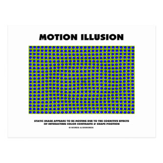 Motion Illusion (Optical Illusion) Post Cards