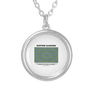 Motion Illusion (Optical Illusion) Round Pendant Necklace