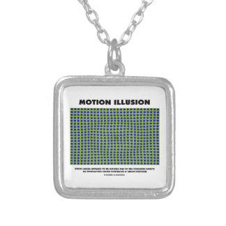 Motion Illusion (Optical Illusion) Square Pendant Necklace