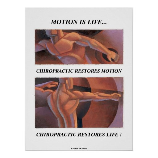 Motion Is Life Poster