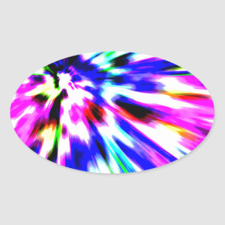 Motion of Color Oval Sticker