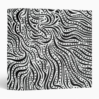 Motion on the Water v2 (1.5in) - Black on White 3 Ring Binder