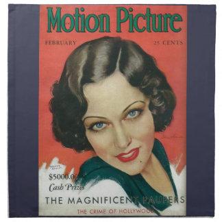 Motion Picture February 1931 Gloria Swanson cover Napkin