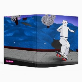 Motion Rotation skateboarding at park - Blue Binder