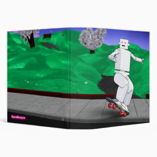 Motion Rotation skateboarding at park - BlueGreen Binder