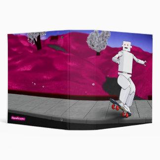 Motion Rotation skateboarding at park - Fuchsia Binder