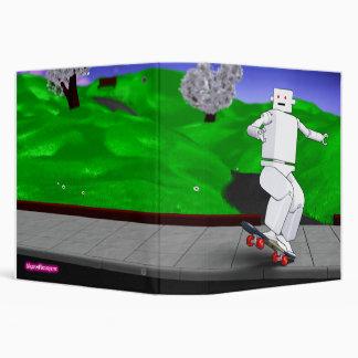 Motion Rotation skateboarding at park - green Binder