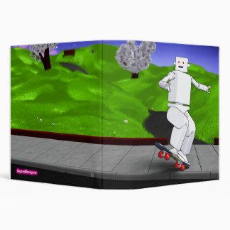 Motion Rotation skateboarding at park - Lime Green 3 Ring Binder