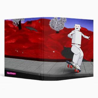 Motion Rotation skateboarding at park - Red Binder