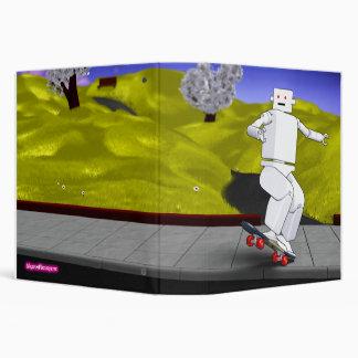 Motion Rotation skateboarding at park - Yellow 3 Ring Binder