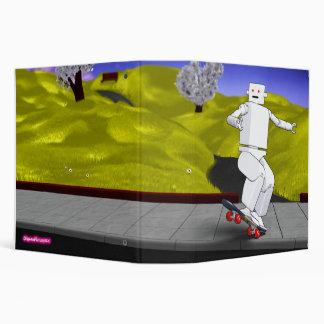 Motion Rotation skateboarding at park - Yellow Binder