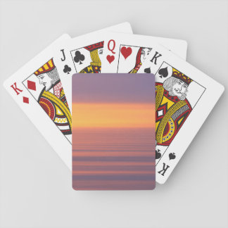 Motion Sunset Playing Cards