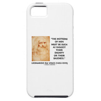 Motions Of Men Suggest Dignity Baseness da Vinci iPhone SE/5/5s Case
