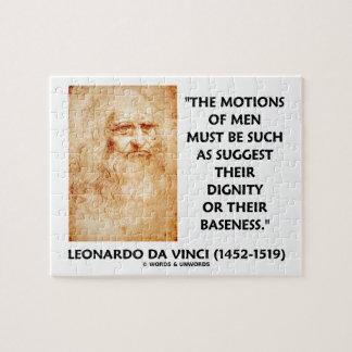 Motions Of Men Suggest Dignity Baseness da Vinci Puzzle