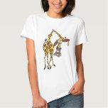 Motiv: lustige Giraffe mit Ohrring und Goldzahn T-shirts