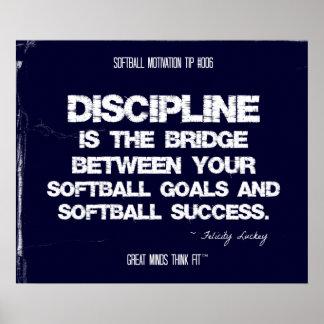 Motivación 006 del softball posters