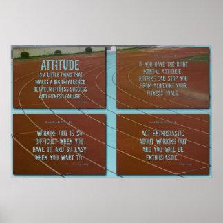 ¡Motivación corriente de la pista Posters