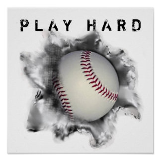Motivación del béisbol póster