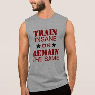 Motivación del entrenamiento playera sin mangas