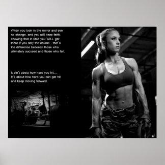 Motivación del entrenamiento póster