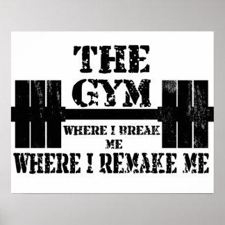 Motivación del gimnasio póster
