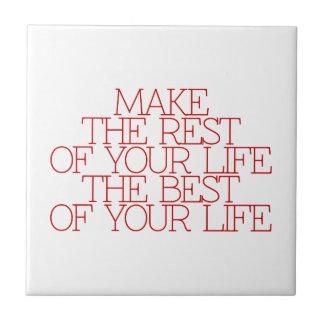 Motivación, inspiración, palabras de la sabiduría. tejas  cerámicas