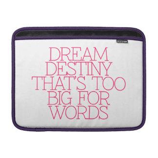 Motivación, inspiración, palabras de la sabiduría. funda  MacBook