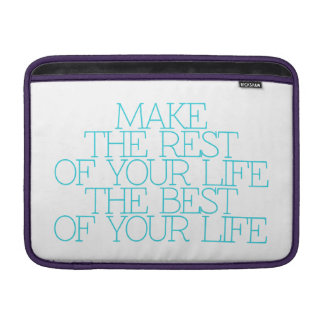 Motivación, inspiración, palabras de la sabiduría. funda macbook air