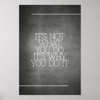 Motivación, inspiración, palabras de la sabiduría. poster