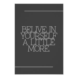 Motivación, inspiración, palabras de la sabiduría. póster