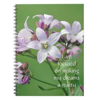 Motivación positiva de la afirmación sobre sueños libretas